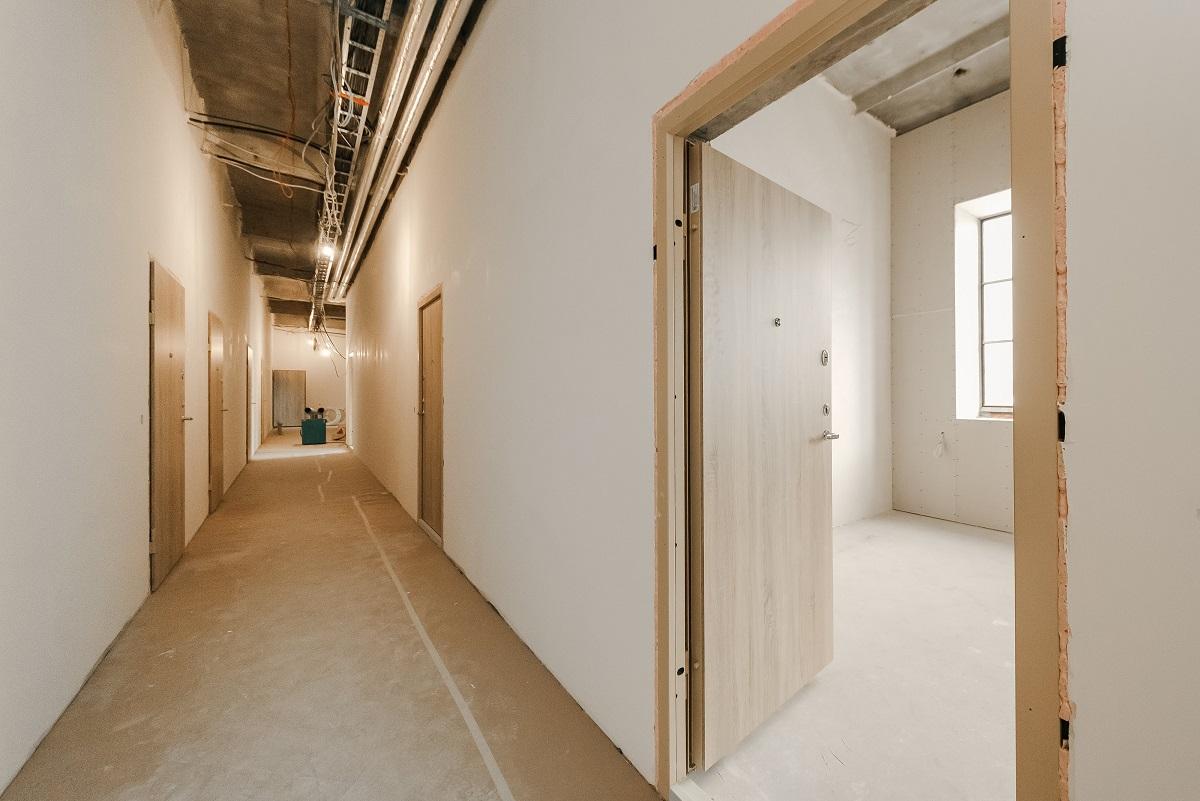 Lagom lofts koridorius: gerbūvio darbai