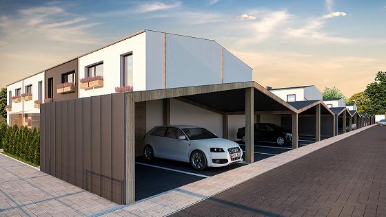 Parkavimo su stoginėmis vizualizacija Juodupio g. 33